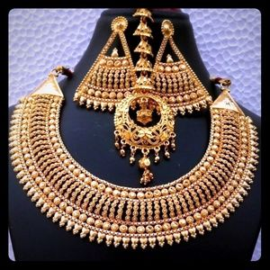 Indian 22K Gold Plated Bollywood Long Necklace